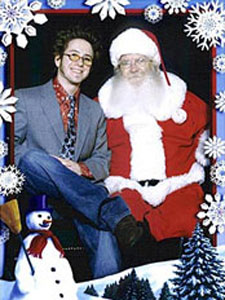 Chris Cason with Santa