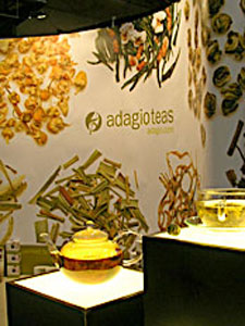 Adagio Teas' booth