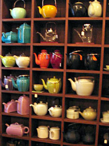 A selection of teapots for sale