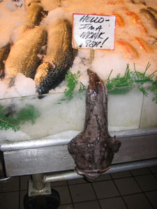 Some monkfish at Pike Place Market