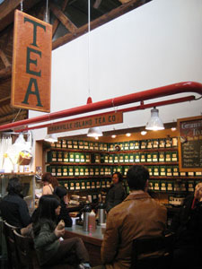 Inside Granville Island Tea Co.