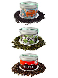 Ceylon, Dragonwell and Nepal Teas