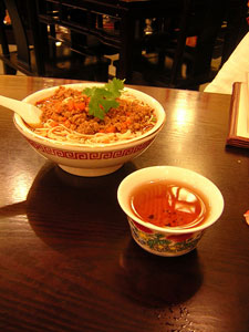 Spicy Pork Noodles Pu Erh