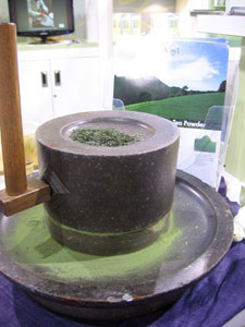 A 400 year old matcha grinding stone