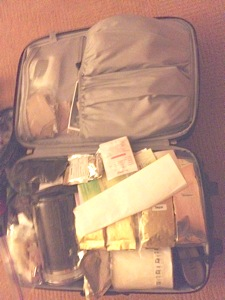 Suitcase full o'leaves!