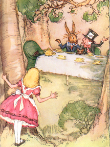 """Take some more tea,"" the March Hare said to Alice, very earnestly."