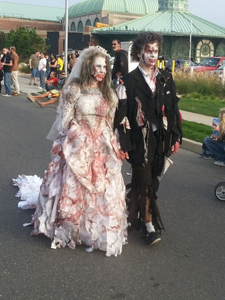 It's a nice day for a zombie wedding.