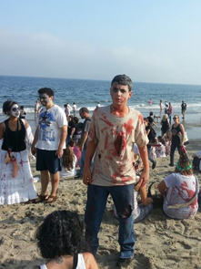 Beach zombie, beach zombie, there on the sand...