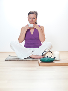 Enhance your tea drinking with a simple yoga practice.