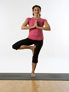 Vrkasana, or Tree Pose.