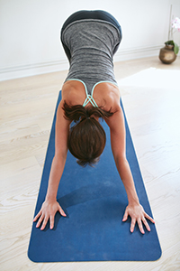 Downward Facing Dog is an easy and fulfilling yoga pose.