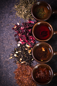 Prepare a thoughtful array of teas.