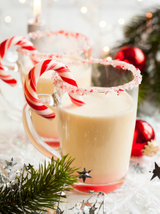 Candy Cane Tea Cocktails