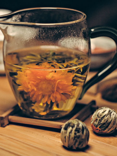 Blooming Tea Helps the Creative Process