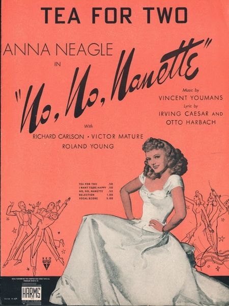 "Several film versions were made of ""No, No, Nanette,"" the most popular of which starred British actress Anna Neagle with Victor Mature in 1940. (Sheet music provided by the Art, Music, and Recreation Department of the Los Angeles Public Library)"