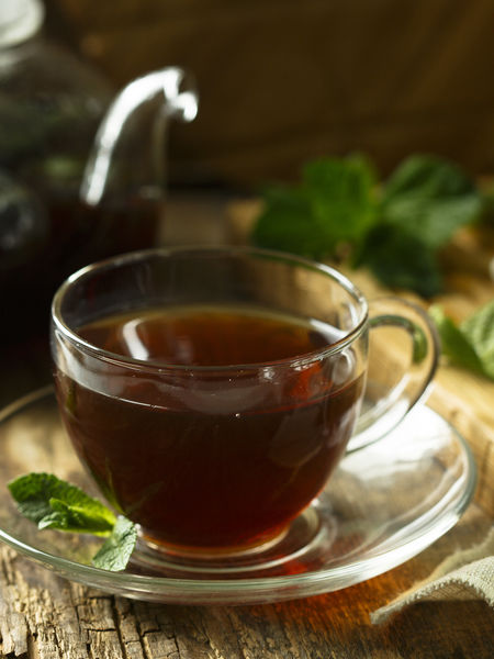 Dark and Delicious Mint Tea