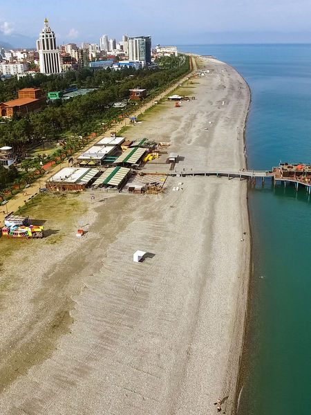 Batumi Georgia public beach, Black Sea Resort
