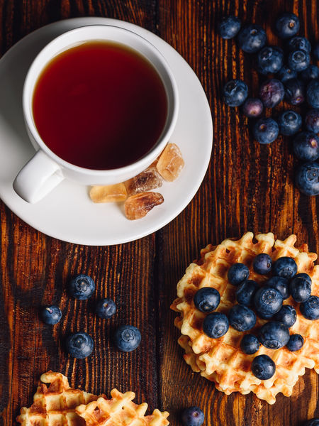 Mini vegan waffles make a tasty sweet treat with breakfast tea!