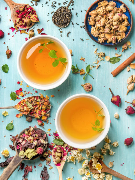 "For body fat and ""perceived"" body fat, true teas from Camellia sinensis help reduce inflammation through their polyphenol content, while many herbal varieties boast anti-inflammatory properties."