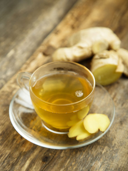 True tea might have a diuretic effect, but it can well taken care of by ginger.