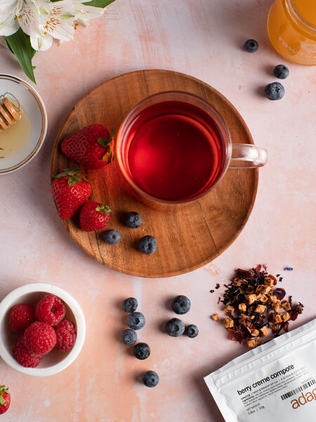 Berry Creme Compote, only available during the Spring for purchase! Another great berryful tea- grab it before it tucks away to the rewards page for the rest of the year!